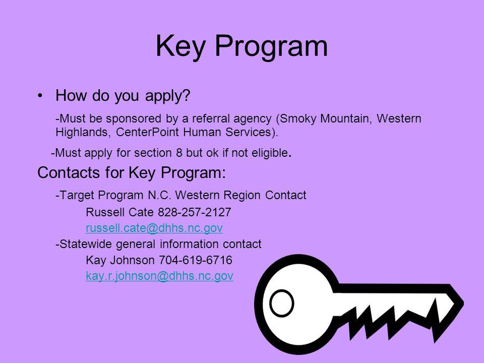 Key Program How do you apply.