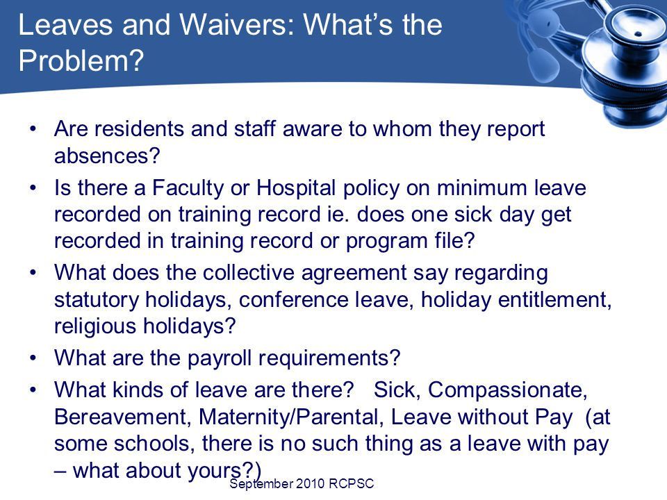 Are residents and staff aware to whom they report absences.