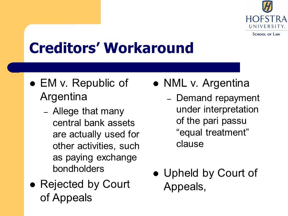 Creditors' Workaround EM v.