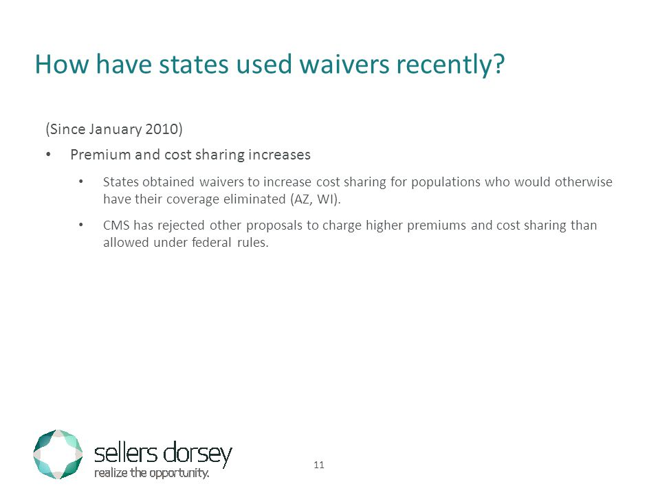 How have states used waivers recently.