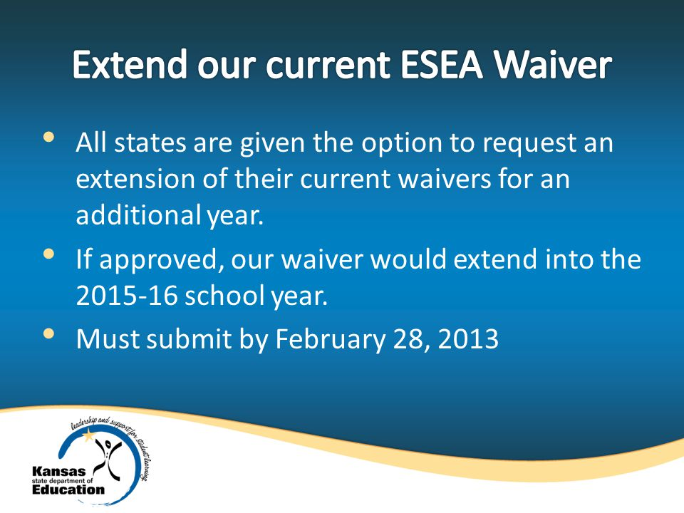 All states are given the option to request an extension of their current waivers for an additional year.