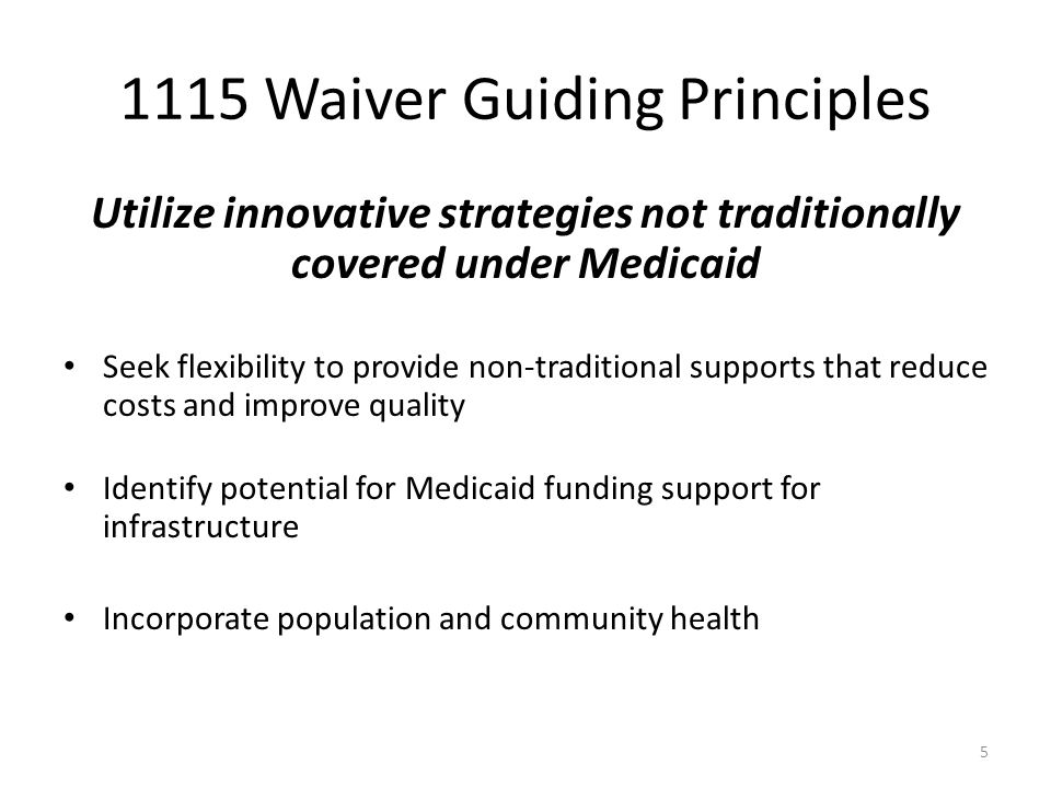 1115 Waiver Guiding Principles Strengthen home and community based services to reduce need for institutional care Seeks to break down silos to better serve consumers that have complex needs Expand opportunities for consumers to choose services that best meet their needs to maximize potential for independent living Consistent with Balancing Incentives Program (BIP), Money Follows the Person, Consent Decrees 6