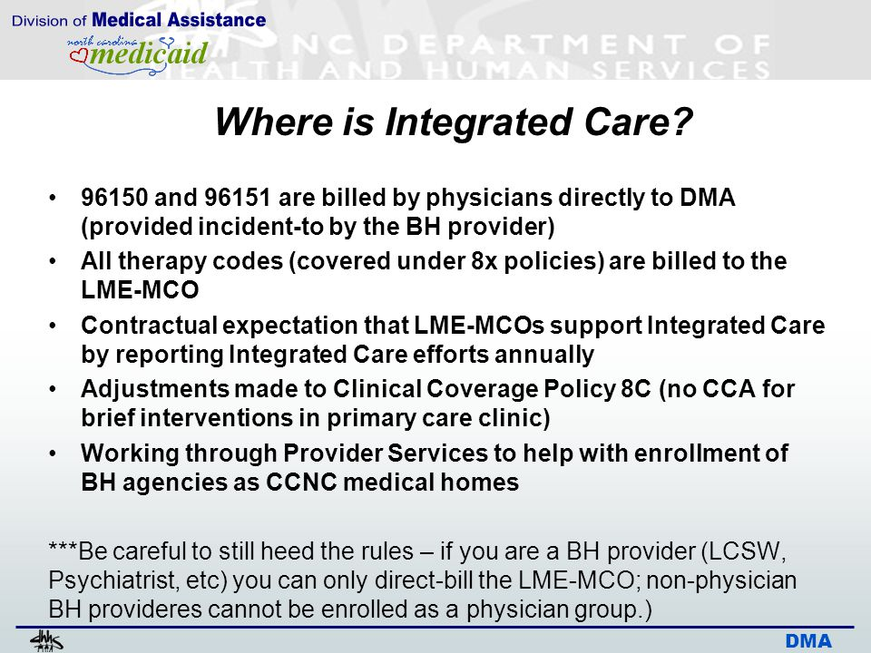 DMA Where is Integrated Care.