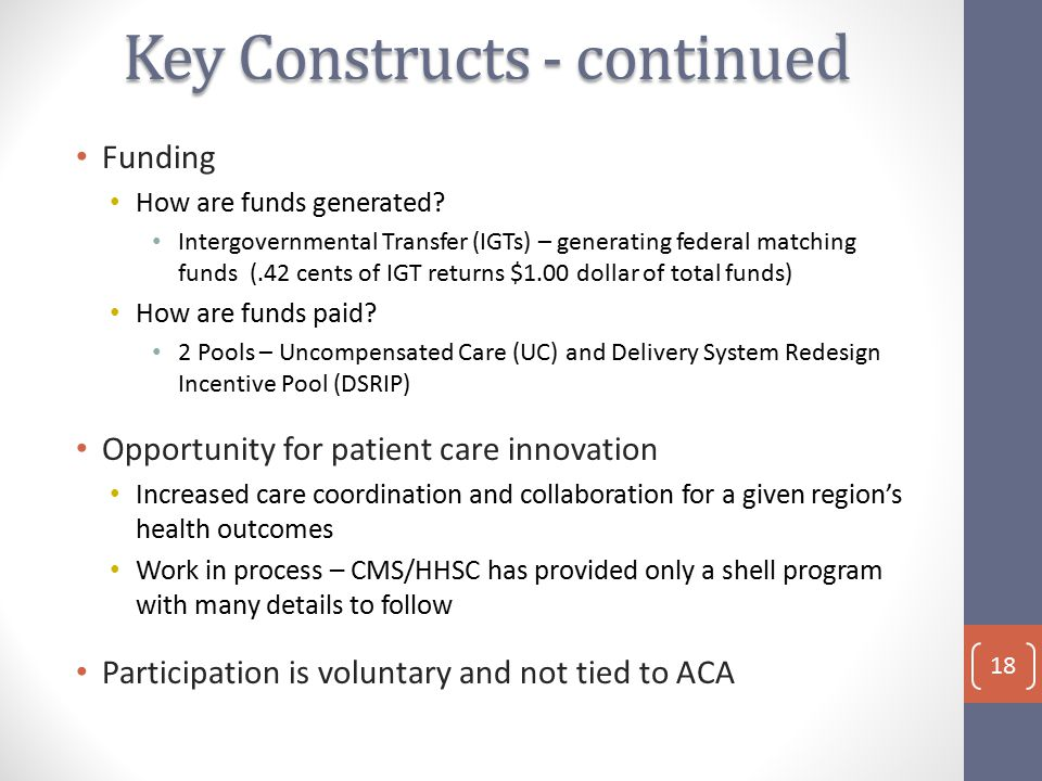 Funding How are funds generated.