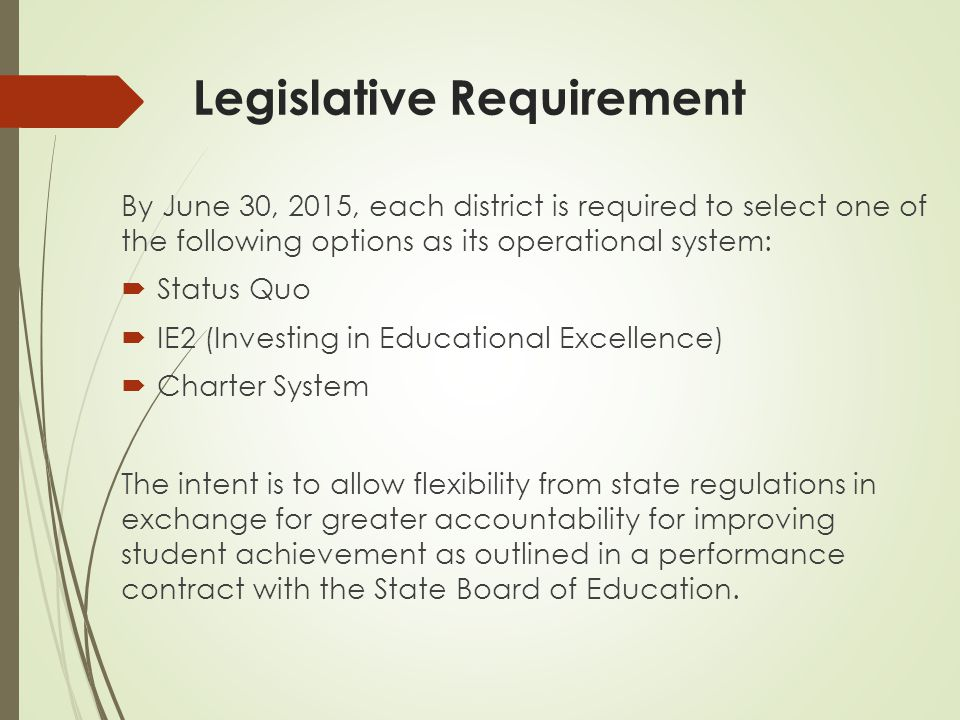 Q.When does the district begin to operate under the selected flexibility model.