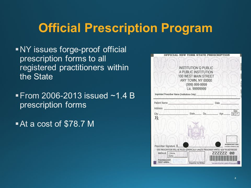 Official Prescription Program 2