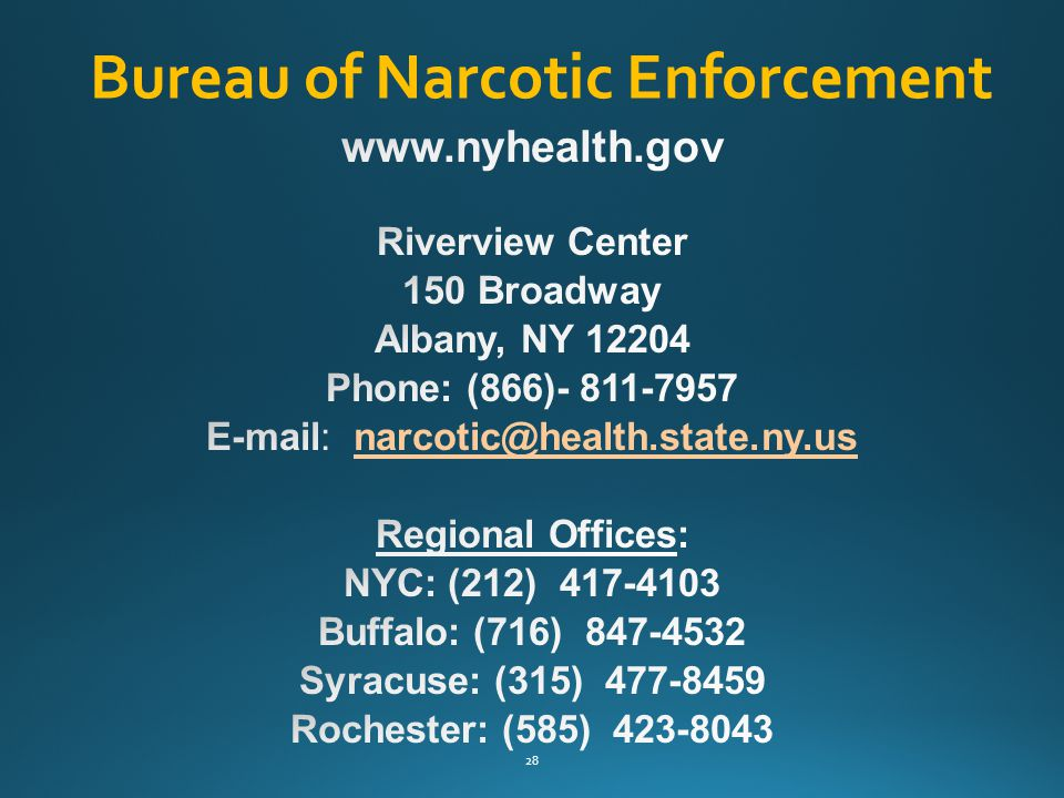 Bureau of Narcotic Enforcement 28