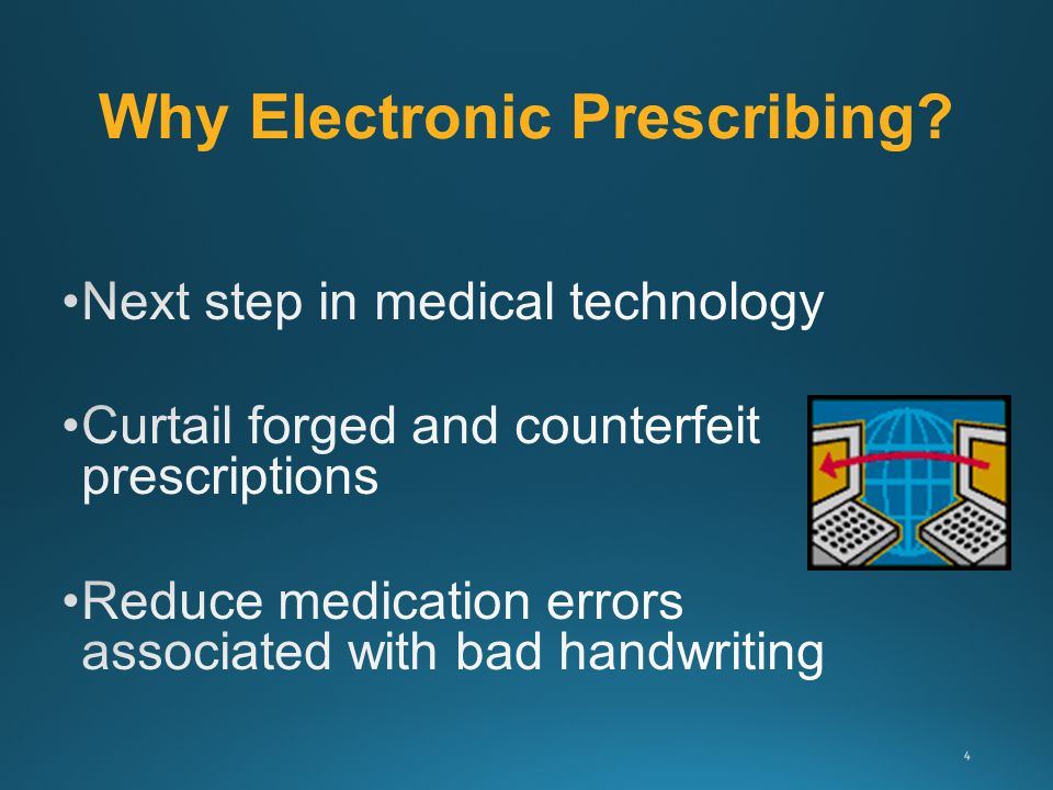 Why Electronic Prescribing? 4