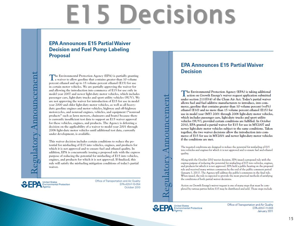 15 E15 Decisions