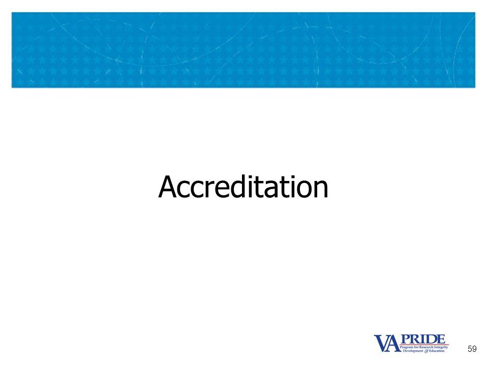 59 Accreditation