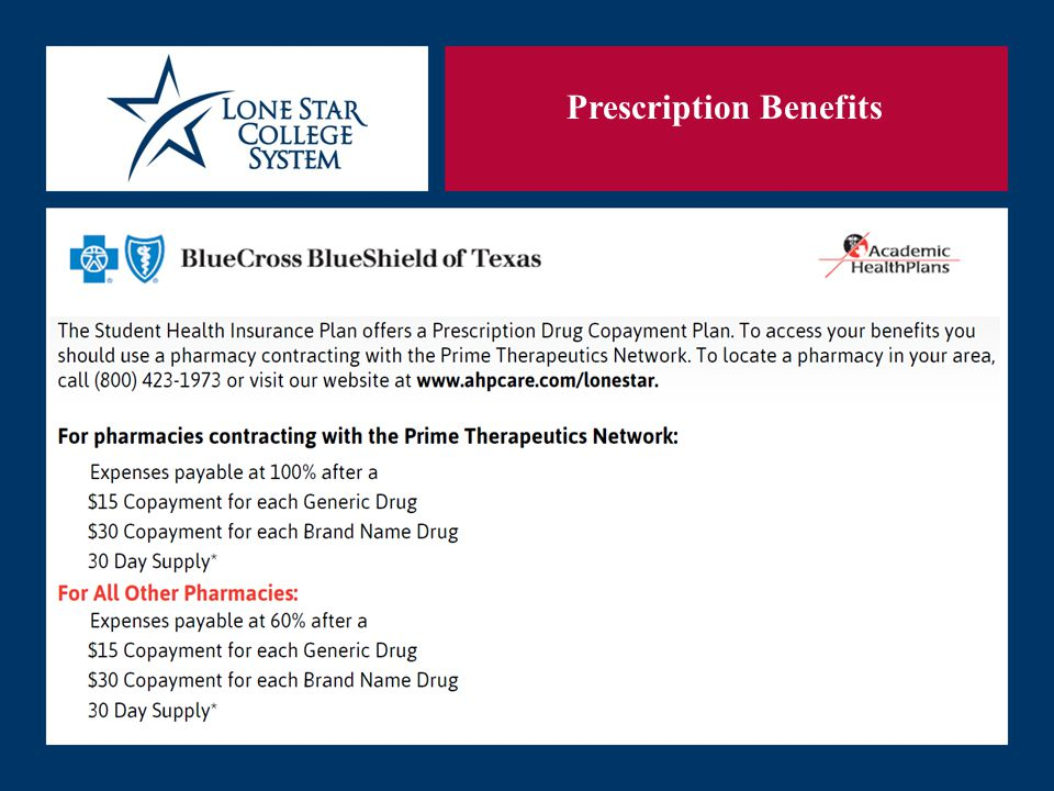 SLIDE 21 Prescription Benefits
