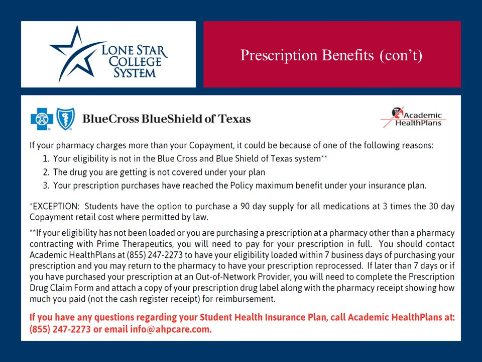 SLIDE 22 Prescription Benefits (con't)