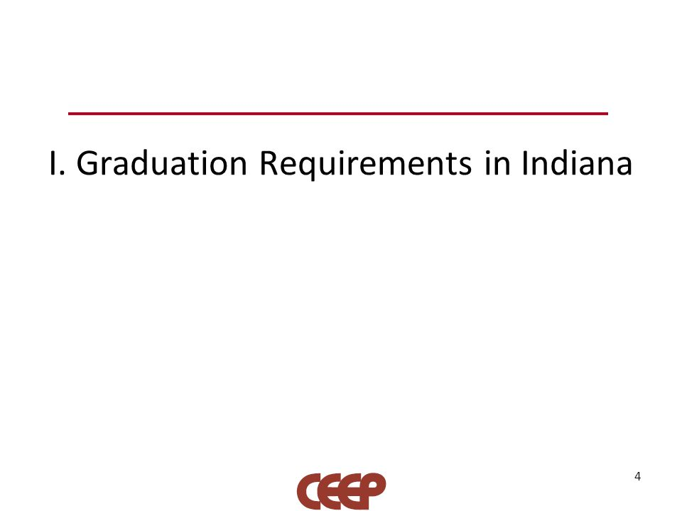I. Graduation Requirements in Indiana 4