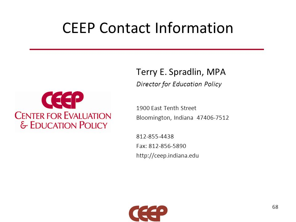 CEEP Contact Information Terry E.