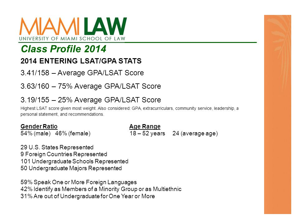 Contact Information Office of Student Recruitment, School of Law admissions@law.miami.edu 305-284-6746 Office of Interdisciplinary Programs and Initiatives sabraham@law.miami.edu 305-284-4030
