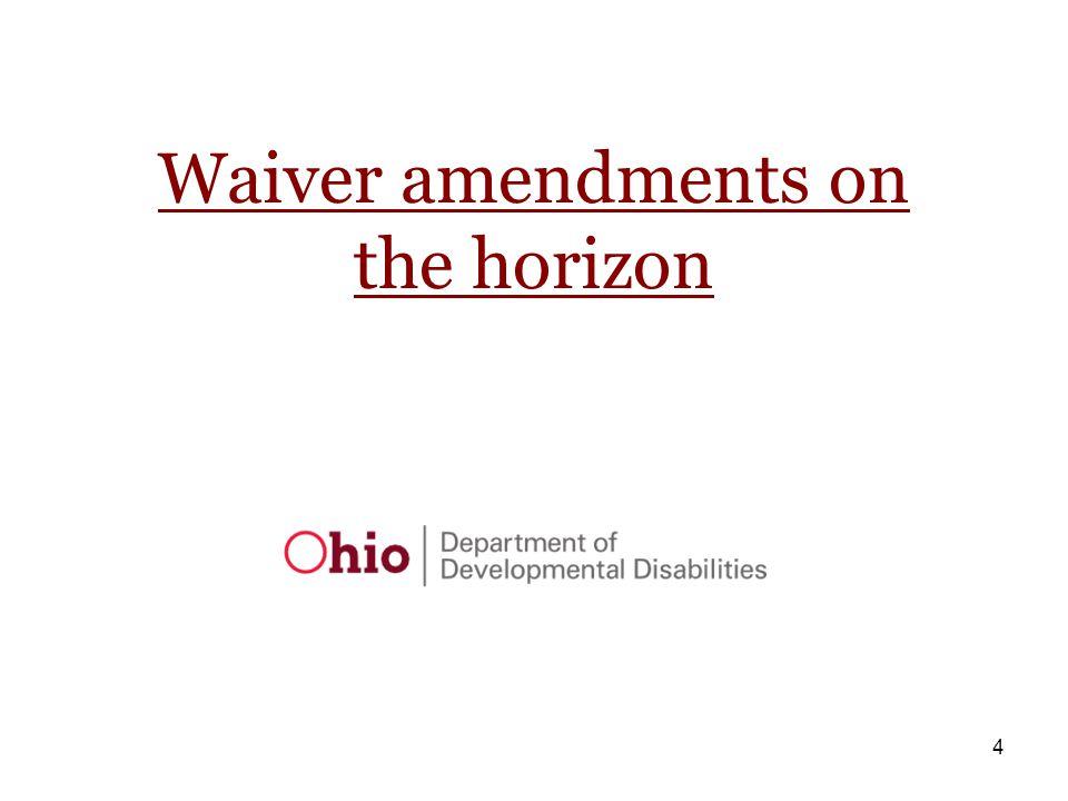 4 Waiver amendments on the horizon