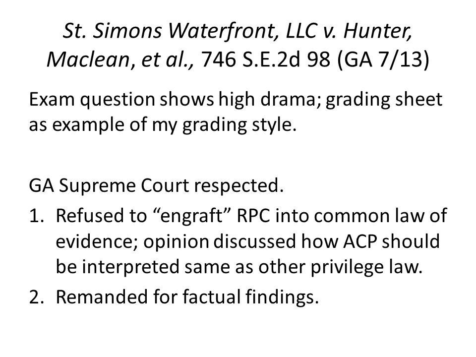St. Simons Waterfront, LLC v.