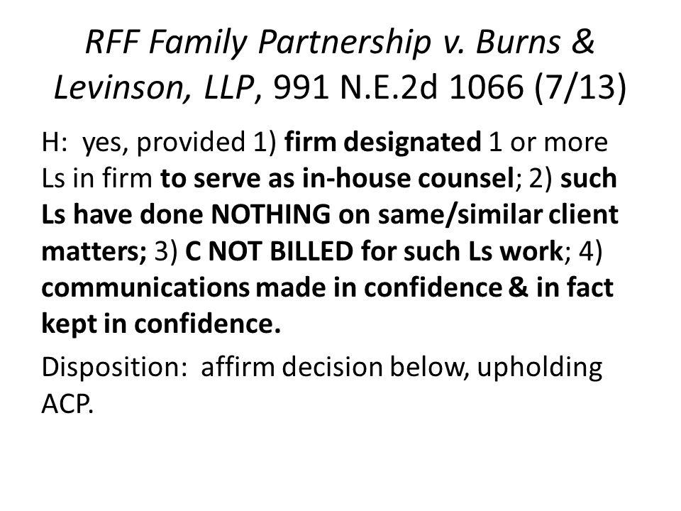 RFF Family Partnership v.