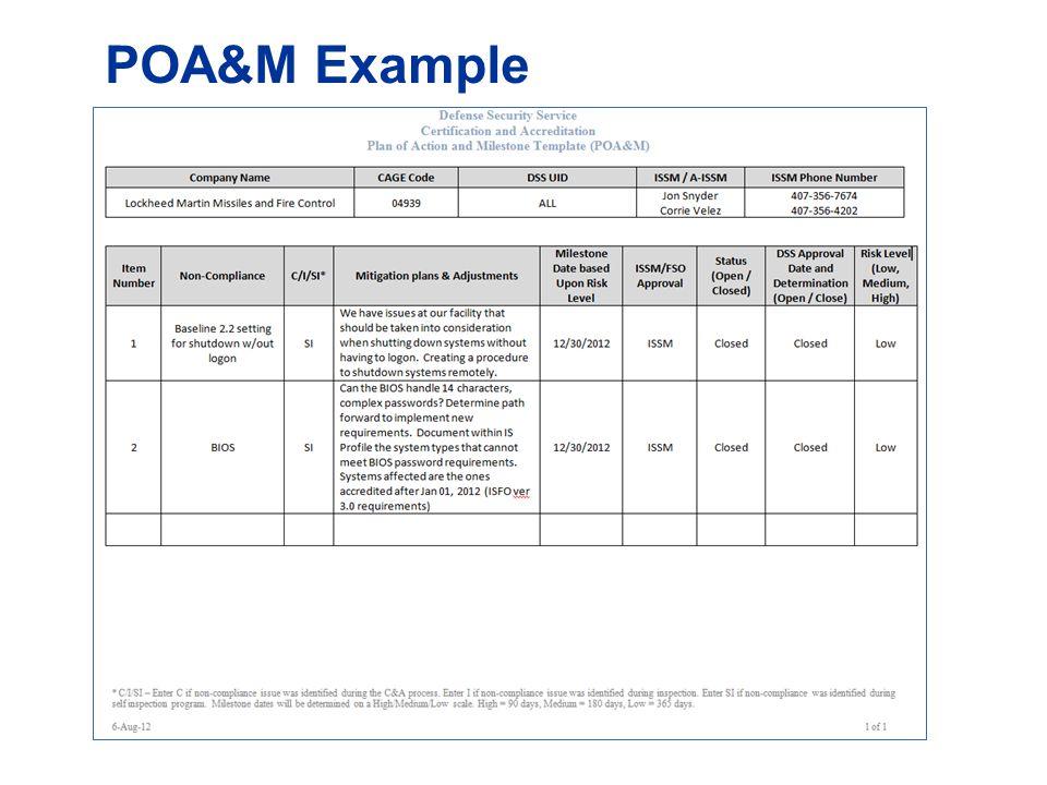 POA&M Example