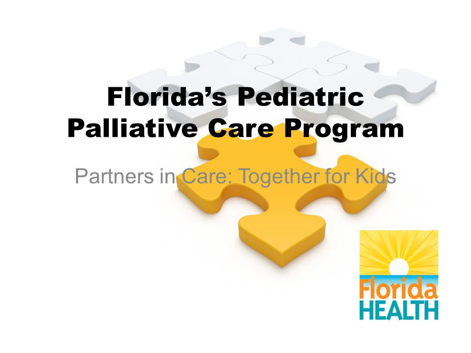 Florida's Pediatric Palliative Care Program Partners in Care: Together for Kids