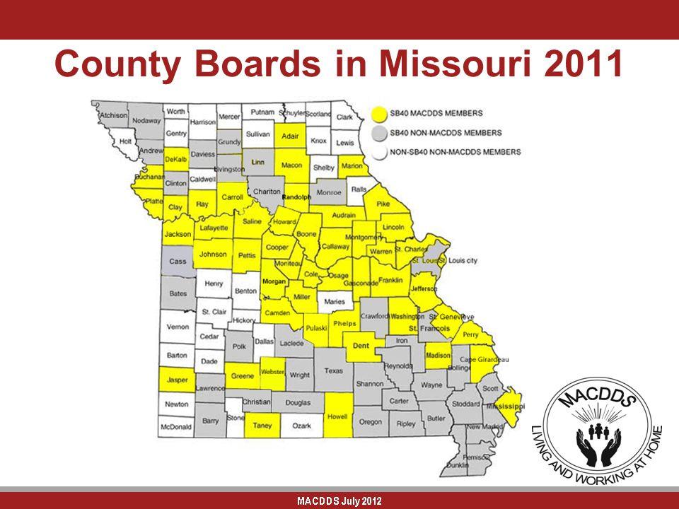County Boards in Missouri 2011