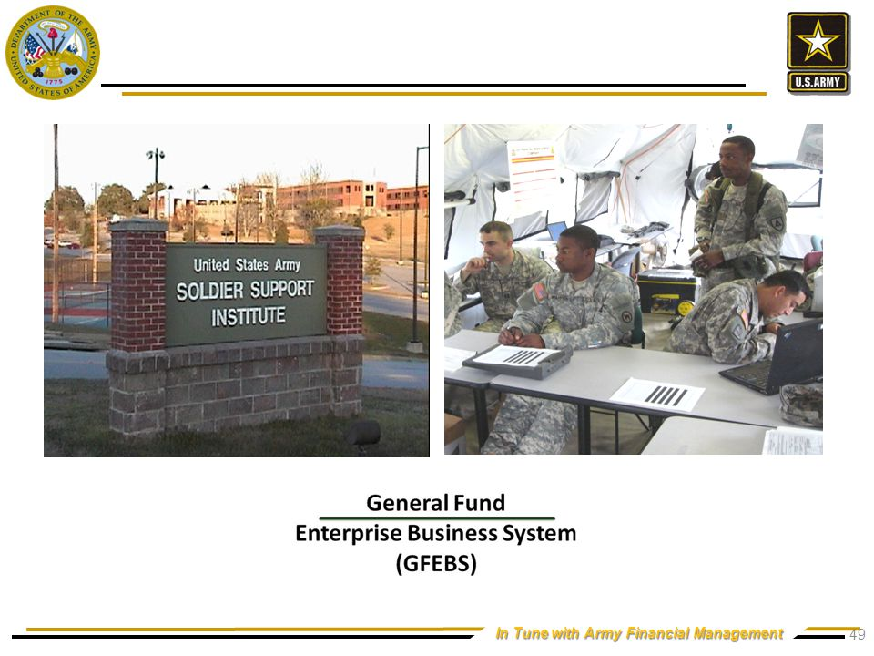In Tune with Army Financial Management 49