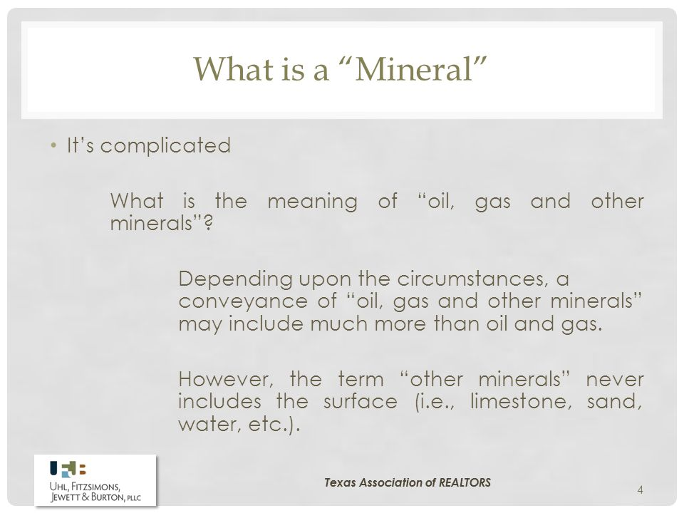 What is a Mineral It's complicated What is the meaning of oil, gas and other minerals .