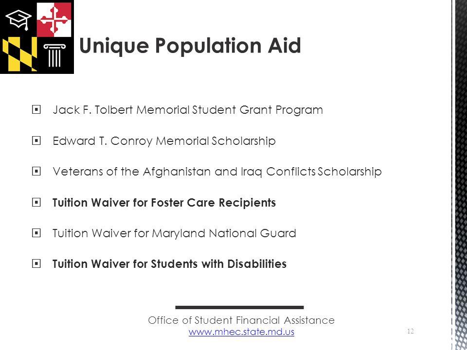  Jack F. Tolbert Memorial Student Grant Program  Edward T.