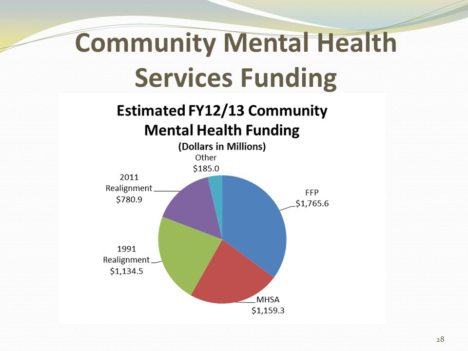 Community Mental Health Services Funding 28