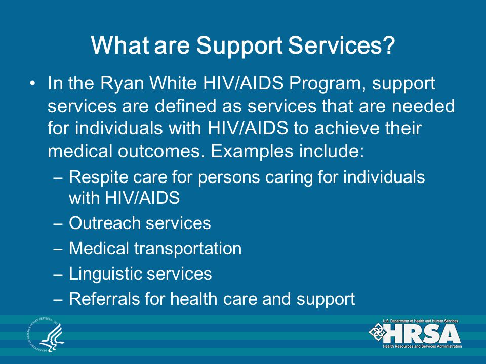 What are Support Services.