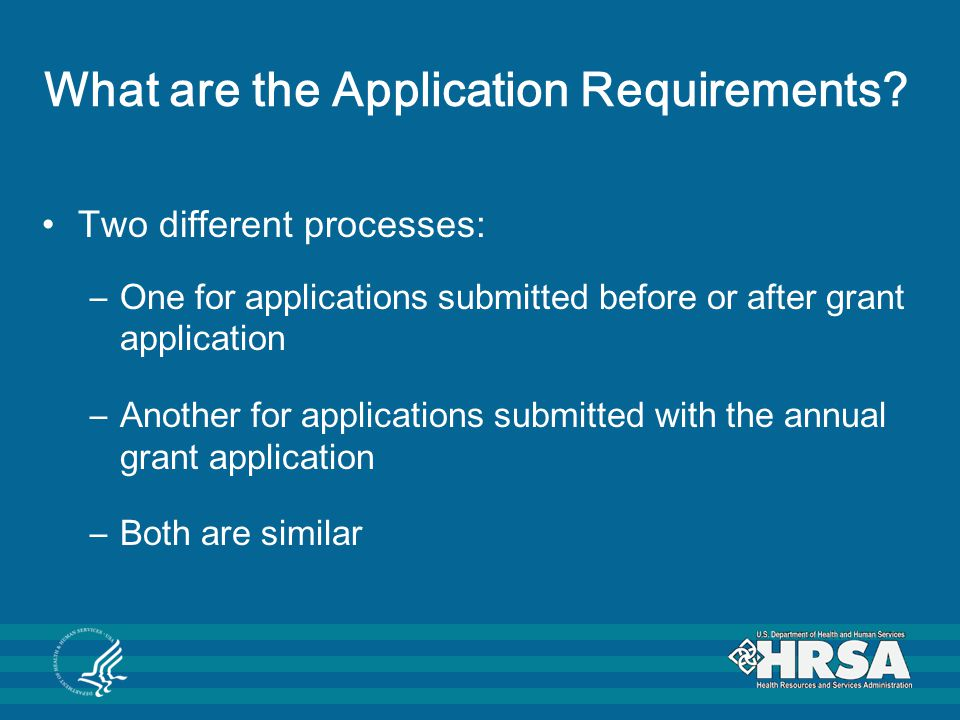 What are the Application Requirements.