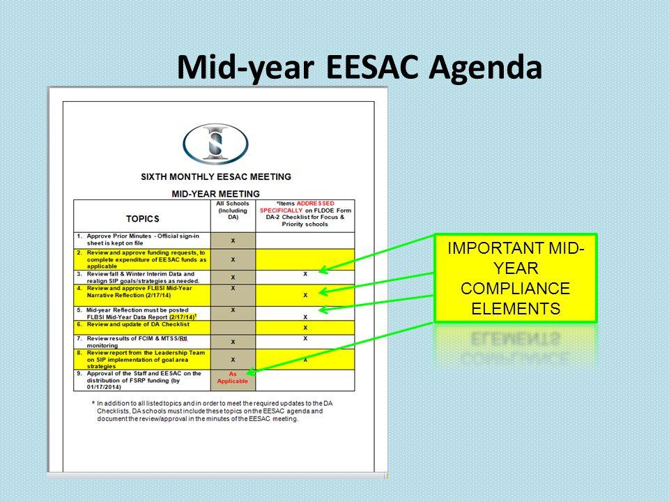 Mid-year EESAC Agenda