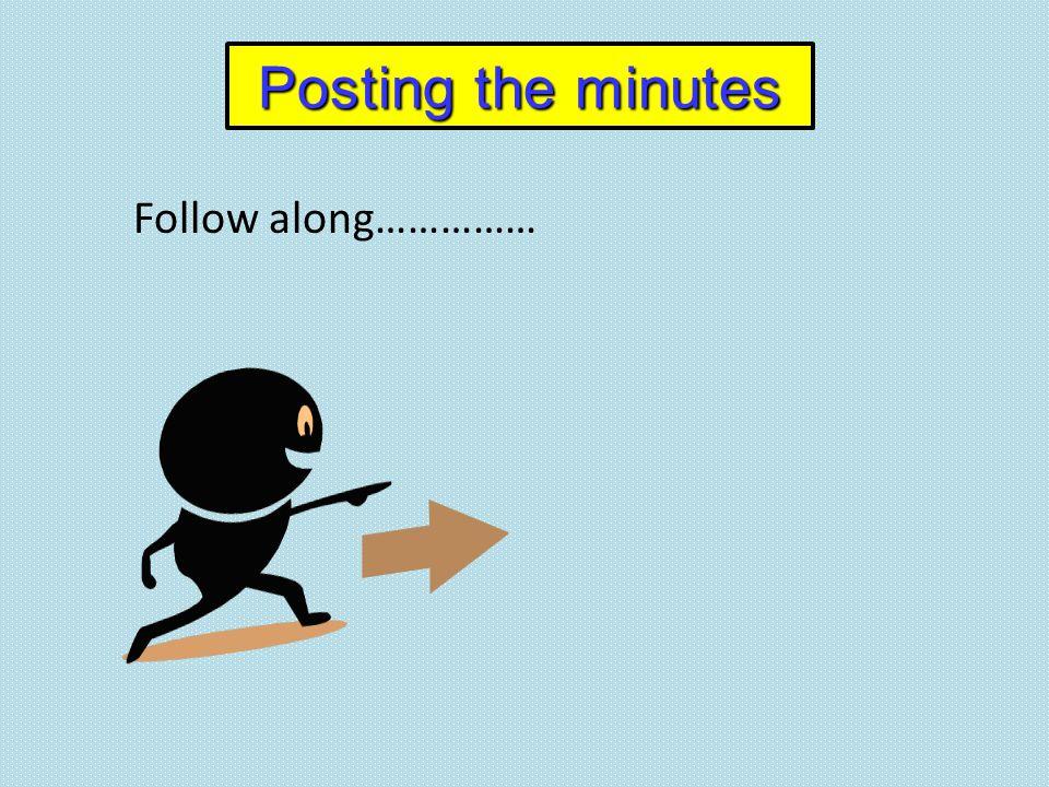 Follow along……………