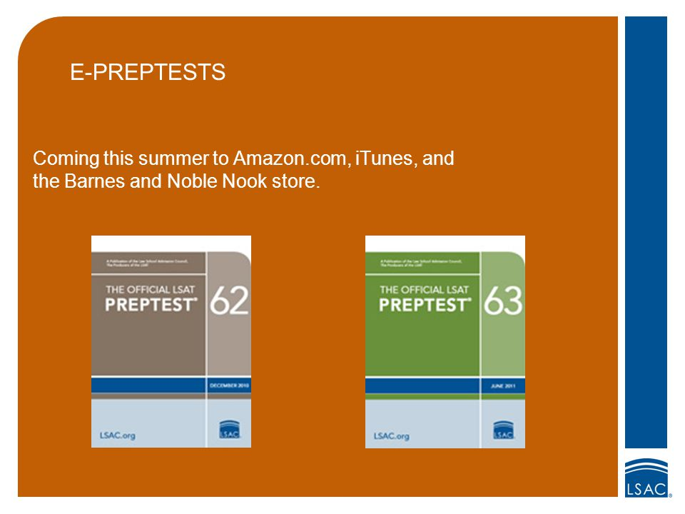 E-PREPTESTS Coming this summer to Amazon.com, iTunes, and the Barnes and Noble Nook store.
