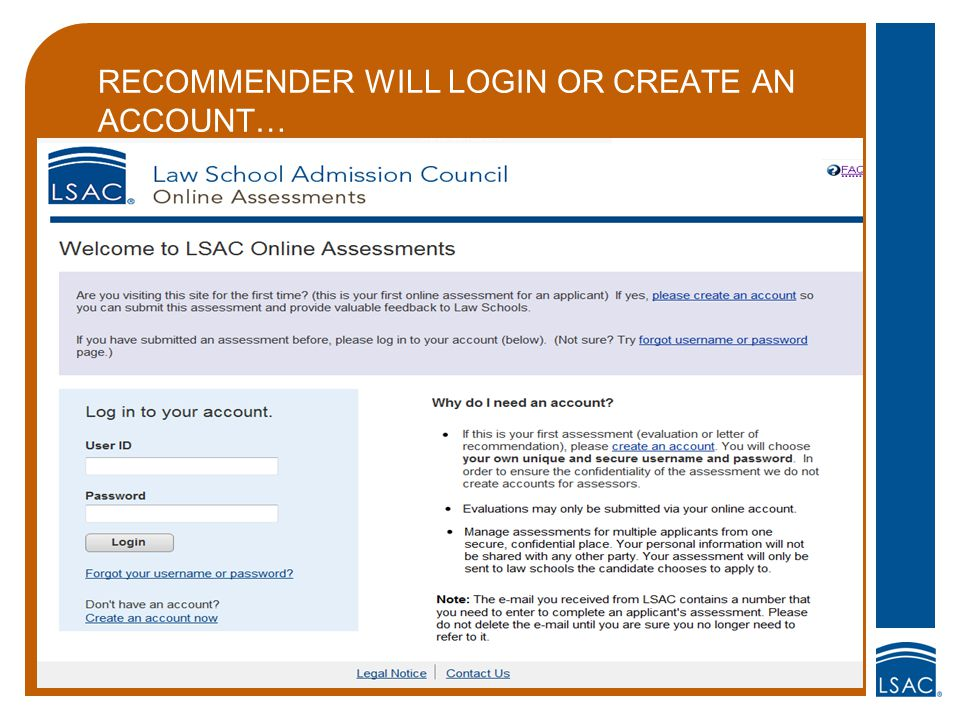 RECOMMENDER WILL LOGIN OR CREATE AN ACCOUNT…