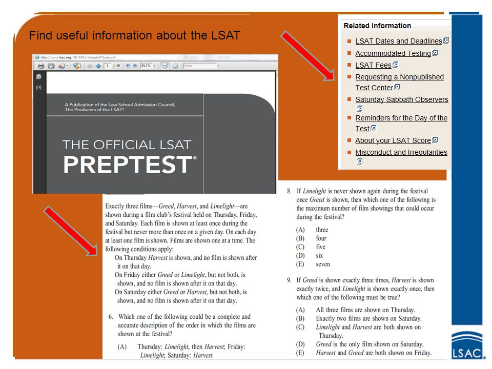 Find useful information about the LSAT