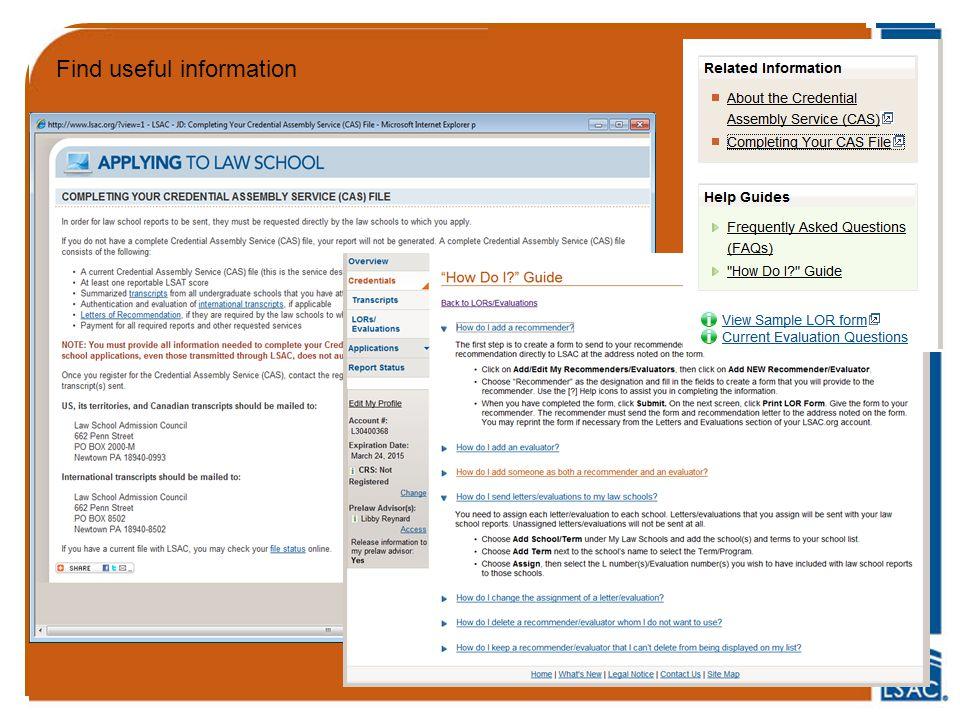 Find useful information