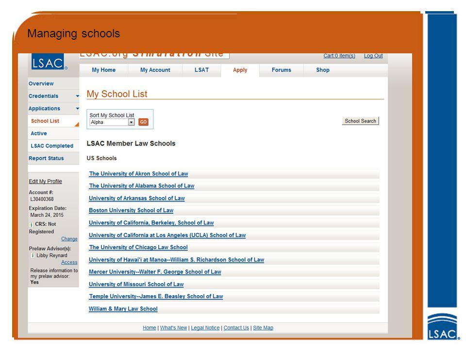 Managing schools
