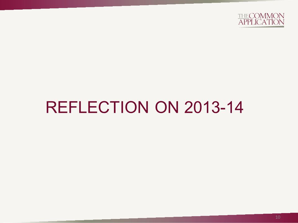 REFLECTION ON 2013-14 10