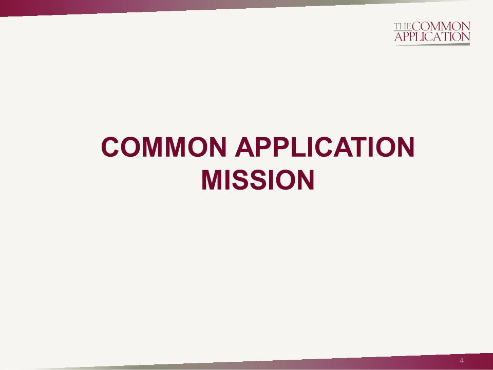 COMMON APPLICATION MISSION 4