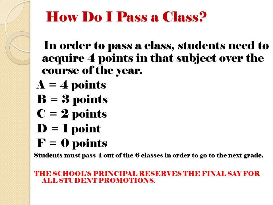 How Do I Pass a Class.