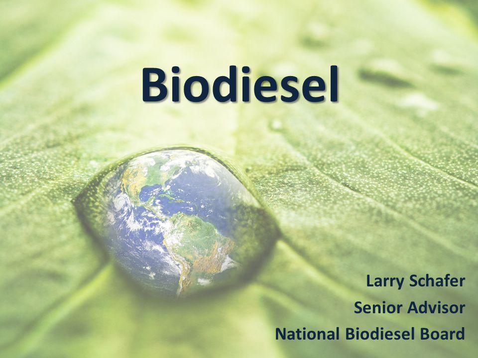 Biodiesel Larry Schafer Senior Advisor National Biodiesel Board