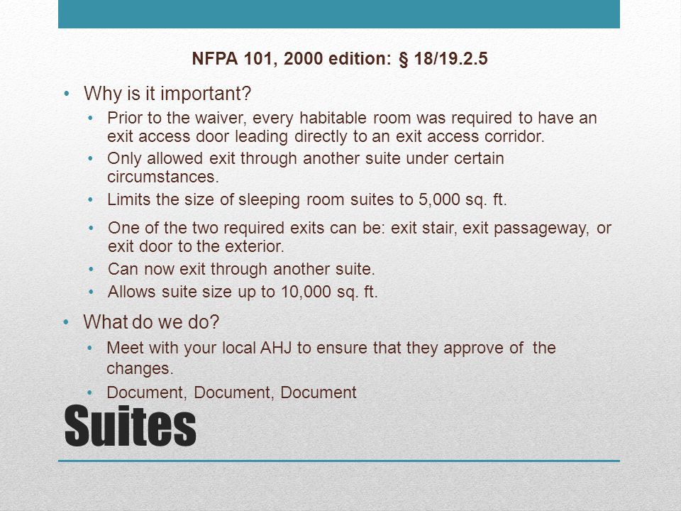 Clean Waste and Patient Record Recycling Containers NFPA 101, 2000 edition: § 18/19.7.5.5 Why is it important.