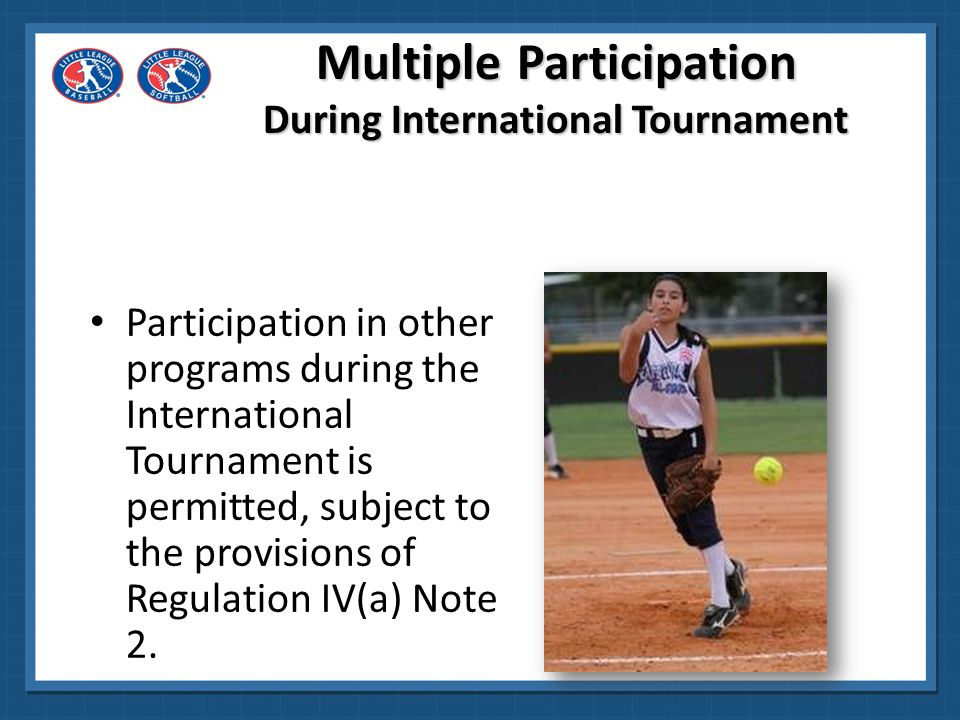 Tournament Eligibility Verification Eligibility information, including residence for the District winner, will be verified at the district level.