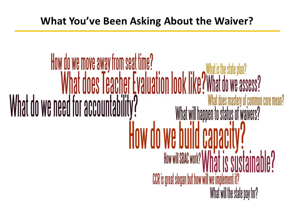 What You've Been Asking About the Waiver