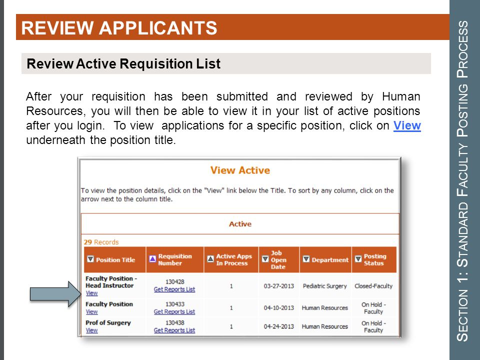 After your requisition has been submitted and reviewed by Human Resources, you will then be able to view it in your list of active positions after you login.