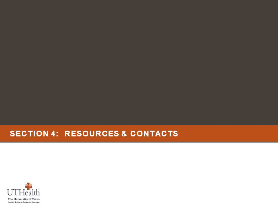 SECTION 4: RESOURCES & CONTACTS