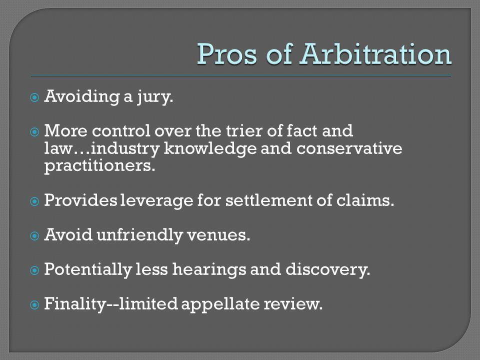  Avoiding a jury.
