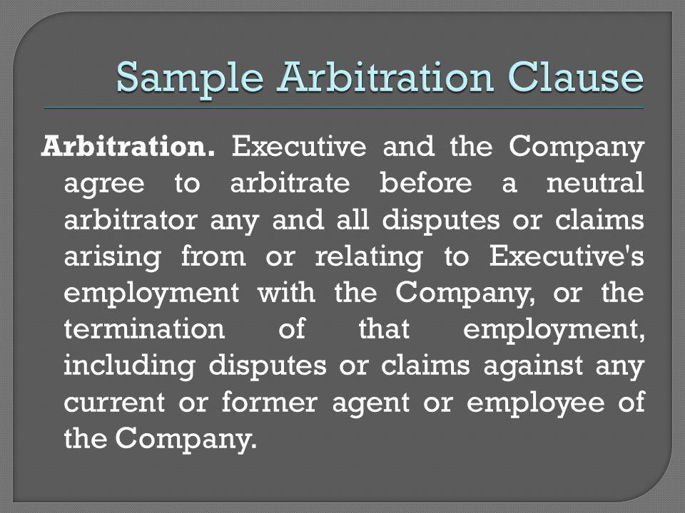 Arbitration.