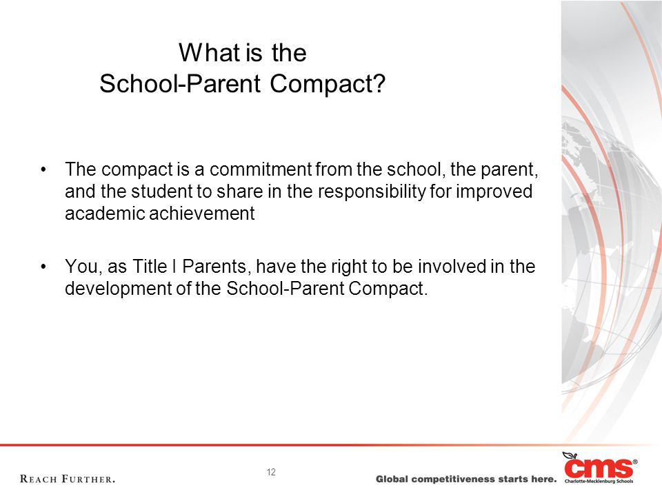 12 What is the School-Parent Compact.